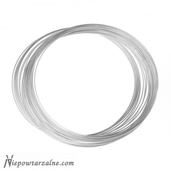 Drut srebrny próby 999 - 1 mm - 50 cm