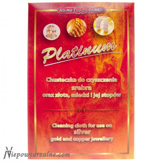Chusteczka do czyszczenia biżuterii Platinum 28x18 cm
