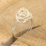 """Srebrny pierścionek """"Róża 1"""""""