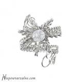 """Srebrny pierścień """"Lodowy Kwiat"""""""
