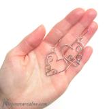 """Srebrne kolczyki """"Lovely Hearts"""""""