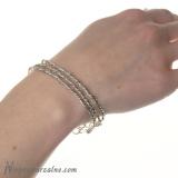 Trzy srebrne bransoletki