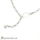 Srebrny łańcuszek gruby 59 cm
