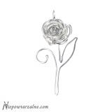 """Srebrny wisiorek """"Róża"""""""