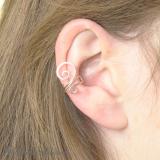 "Srebrny ear cuff ""Zawijas"""