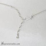 Srebrny łańcuszek średni z regulacją - 45 cm