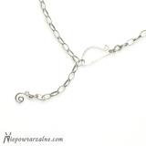 Srebrny łańcuszek gruby 54 cm